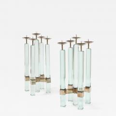 Max Ingrand Rare Pr of Candlesticks 2422 by Max Ingrand for Fontana Arte - 2098295