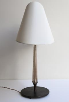 Max Ingrand Rare Table Lamp in Etched Glass and Patinated Brass - 542911