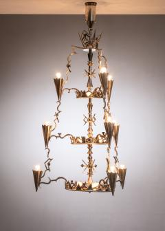 Max Kruger Schwintzer Gr ff silver plated chandelier - 1975643
