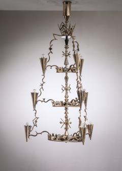 Max Kruger Schwintzer Gr ff silver plated chandelier - 1975644