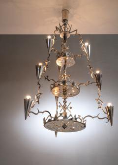 Max Kruger Schwintzer Gr ff silver plated chandelier - 1975645