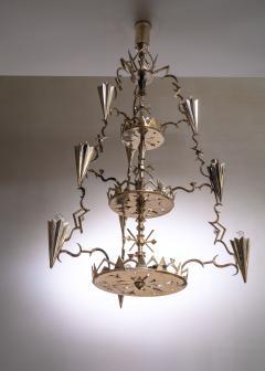 Max Kruger Schwintzer Gr ff silver plated chandelier - 1975646