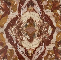 Max Papiri Massimo Papiri Marble Specimen Diaspro Sicily and Gold Brass Pair of side Tables - 1696389