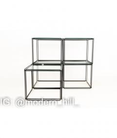 Max Sauze Max Sauze Isoceles Iron and Glass Stacking Side End Tables Set of 5 - 1810330