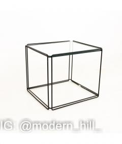 Max Sauze Max Sauze Isoceles Iron and Glass Stacking Side End Tables Set of 5 - 1810355