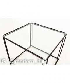 Max Sauze Max Sauze Isoceles Iron and Glass Stacking Side End Tables Set of 5 - 1810358