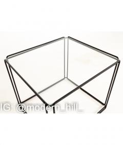Max Sauze Max Sauze Isoceles Iron and Glass Stacking Side End Tables Set of 5 - 1810359