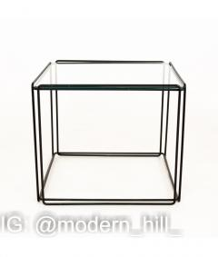 Max Sauze Max Sauze Isoceles Iron and Glass Stacking Side End Tables Set of 5 - 1810360