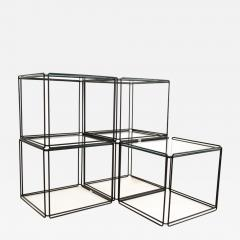 Max Sauze Max Sauze Isoceles Iron and Glass Stacking Side End Tables Set of 5 - 1812766