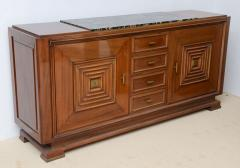 Maxime Old - Fine Late Art Deco Mahogany and Marble-Top, Bronze ...