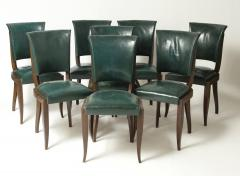 Maxime Old Set of eight chairs in mahogany in the style of Maxime Old - 1258496