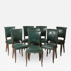 Maxime Old Set of eight chairs in mahogany in the style of Maxime Old - 1259097