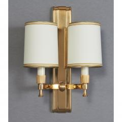 Maxime Old Two Pair of Maxime Old Bronze Sconces France 1940s - 1971002