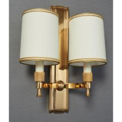 Maxime Old Two Pair of Maxime Old Bronze Sconces France 1940s - 1971007