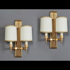 Maxime Old Two Pair of Maxime Old Bronze Sconces France 1940s - 1978446
