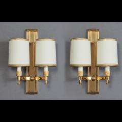 Maxime Old Two Pair of Maxime Old Bronze Sconces France 1940s - 1978447