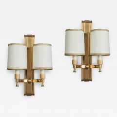Maxime Old Two Pair of Maxime Old Bronze Sconces France 1940s - 1985933