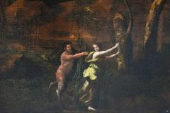 Maximilian Joseph Schinagl Satyr Chasing A Nymph Old Master Painting by Schinagl - 1074569
