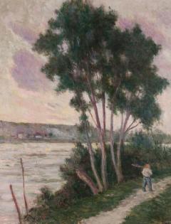 Maximilien Luce Sandrecourt Le Chemin au Bord de la Riviere - 129877