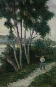 Maximilien Luce Sandrecourt Le Chemin au Bord de la Riviere - 129880