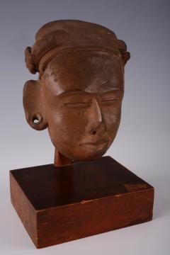 Mayan Terracotta Head Guatemalan Lowlands ca 300 600 AD - 870159
