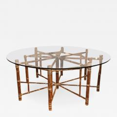McGuire Octagon Bamboo Dining Table With Round Top   296359