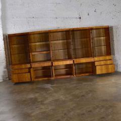 Mcm hooker 5 section oak veneer display cabinet wall unit - 1900232