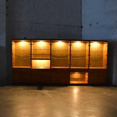 Mcm hooker 5 section oak veneer display cabinet wall unit - 1900235