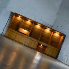 Mcm hooker 5 section oak veneer display cabinet wall unit - 1900240