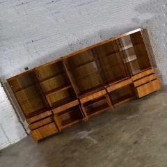 Mcm hooker 5 section oak veneer display cabinet wall unit - 1900242