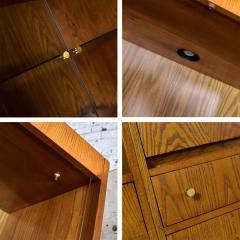 Mcm hooker 5 section oak veneer display cabinet wall unit - 1900276