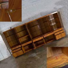Mcm hooker 5 section oak veneer display cabinet wall unit - 1900278