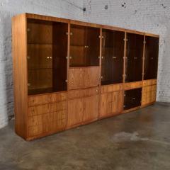 Mcm hooker 5 section oak veneer display cabinet wall unit - 1900290