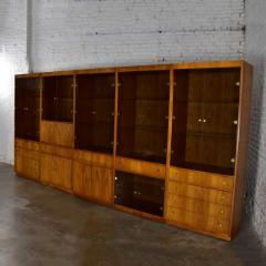 Mcm hooker 5 section oak veneer display cabinet wall unit - 1900298