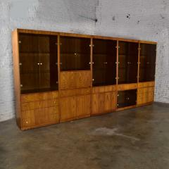 Mcm hooker 5 section oak veneer display cabinet wall unit - 1900302