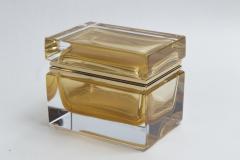 Medium Murano Blown 24K Gold Box Contemporary - 1192028
