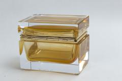 Medium Murano Blown 24K Gold Box Contemporary - 1192031