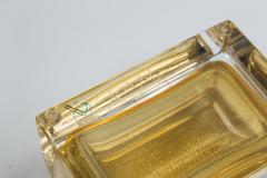 Medium Murano Blown 24K Gold Box Contemporary - 1192042