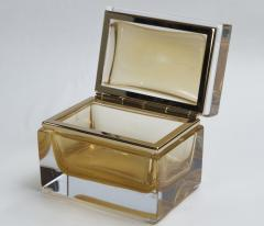 Medium Murano Blown 24K Gold Box Contemporary - 1192043