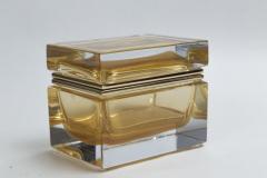 Medium Murano Blown 24K Gold Box Contemporary - 1192055