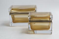 Medium Murano Blown 24K Gold Box Contemporary - 1192057
