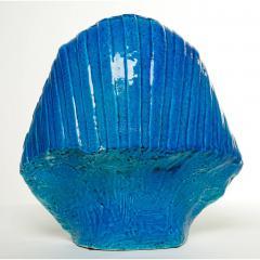 Medium Persian Blue Glaze King Tutankhamun Ceramic Bust by Ugo Zaccagnini - 774570