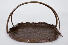 Meiji Period Copper Lotus Leaf Tray - 1805094
