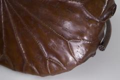 Meiji Period Copper Lotus Leaf Tray - 1805108