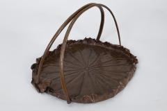 Meiji Period Copper Lotus Leaf Tray - 1805136