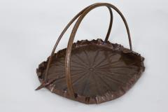 Meiji Period Copper Lotus Leaf Tray - 1805137