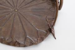 Meiji Period Copper Lotus Leaf Tray - 1805140