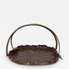 Meiji Period Copper Lotus Leaf Tray - 1805521