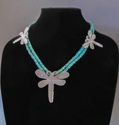 Melanie A Yazzie Dragon Fly Necklace - 499494