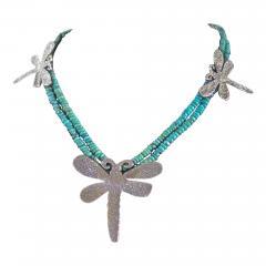 Melanie A Yazzie Dragon Fly Necklace - 501925